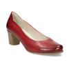 Červené kožené lodičky na stabilním podpatku bata, červená, 624-5649 - 13