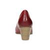 Červené kožené lodičky na stabilním podpatku bata, červená, 624-5649 - 15