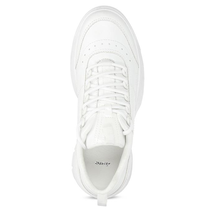 Bílé dámské tenisky na flatformě bata, bílá, 541-1608 - 17