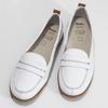 Kožené bílé mokasíny s hnědými detaily comfit, bílá, 516-1606 - 16