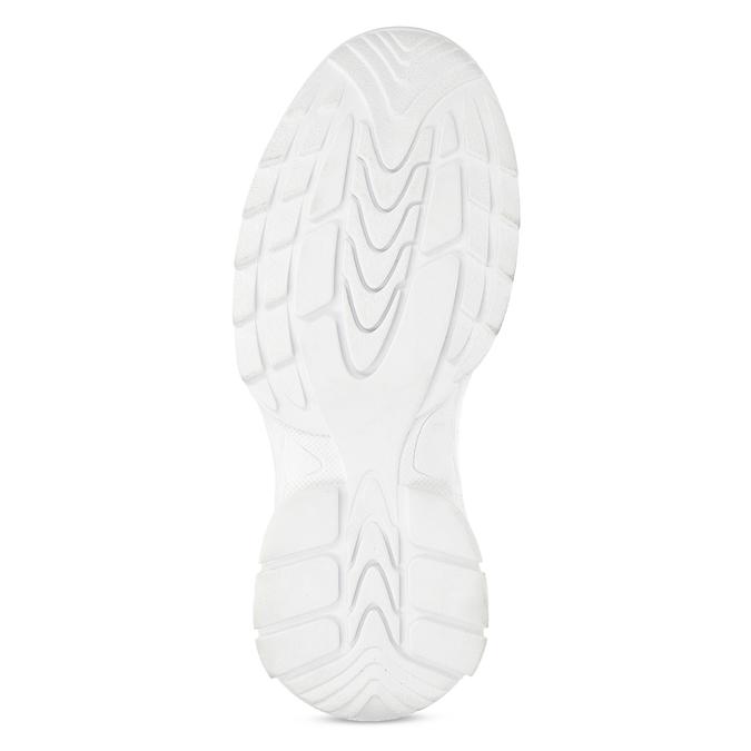 Bílé dámské tenisky na flatformě bata, bílá, 541-1608 - 18