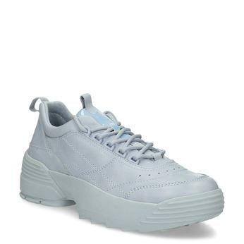 Dámské modré tenisky na flatformě bata, modrá, 541-9608 - 13