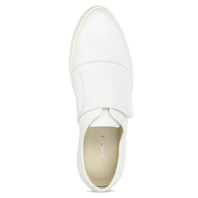 Vagabond Bílé kožené dámské tenisky se suchým zipem - Novinky  56737c8672