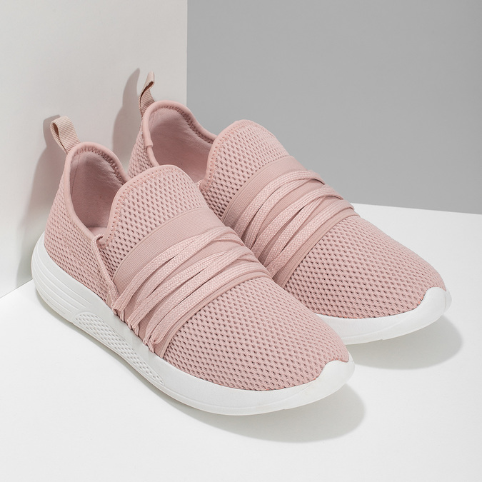 Růžové dámské tenisky na bílé podešvi bata-red-label, růžová, 519-5607 - 26
