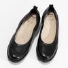 Kožené černé lodičky s výraznou podešví comfit, černá, 624-6618 - 16