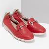 Dámské kožené mokasíny červené comfit, červená, 616-5617 - 26