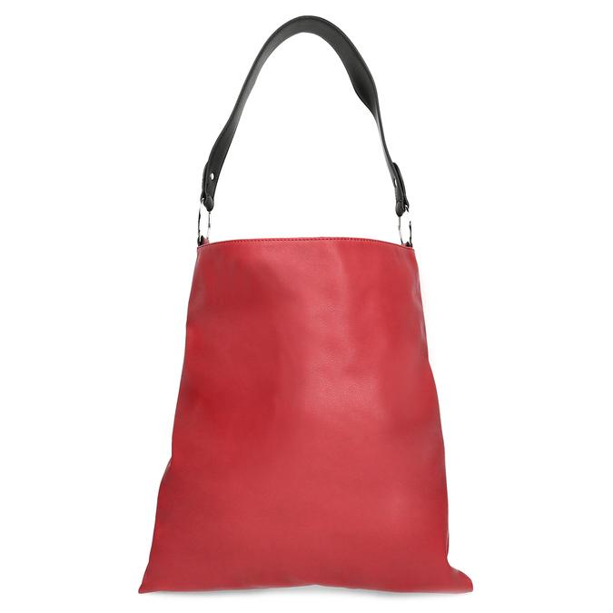 Červená Hobo kabelka s černými detaily bata, červená, 961-5935 - 16