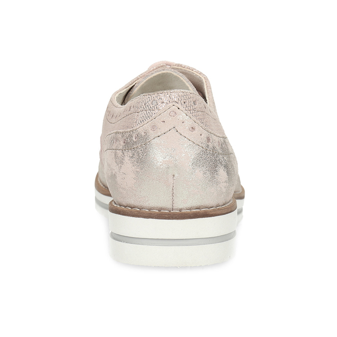 Dámské kožené polobotky růžové bata, růžová, 546-5620 - 15