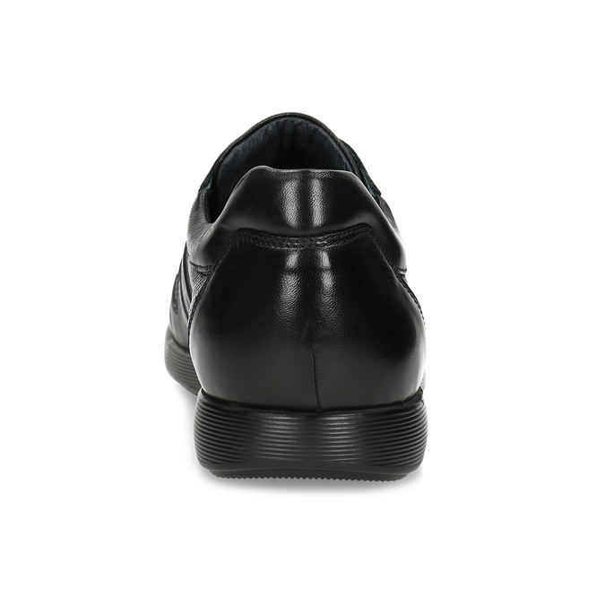Pánské kožené černé tenisky bata, černá, 824-6686 - 15