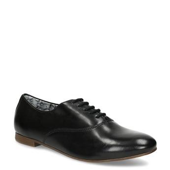 Černé kožené dámské polobotky bata, černá, 544-6603 - 13