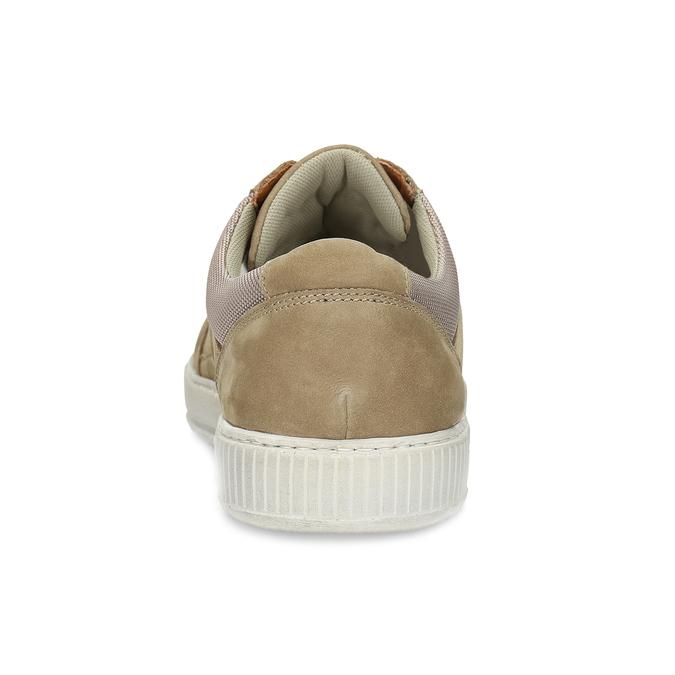 Béžové kožené pánské tenisky bata, hnědá, 846-8600 - 15