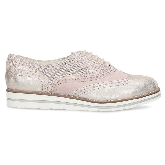 Dámské kožené polobotky růžové bata, růžová, 546-5620 - 19