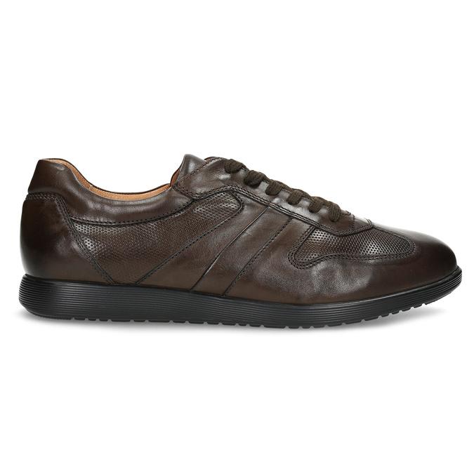 Kožené hnědé pánské tenisky bata, hnědá, 826-4686 - 19