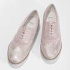 Dámské kožené polobotky růžové bata, růžová, 546-5620 - 16