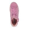 Kotníčkové růžové tenisky z broušené kůže richter, růžová, 323-5104 - 17