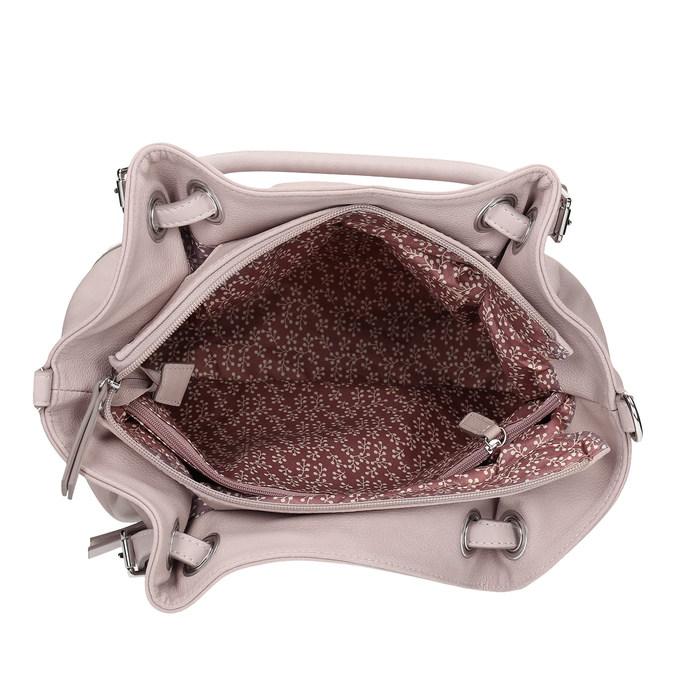 Růžová kabelka s přívěskem gabor, růžová, 961-5017 - 15