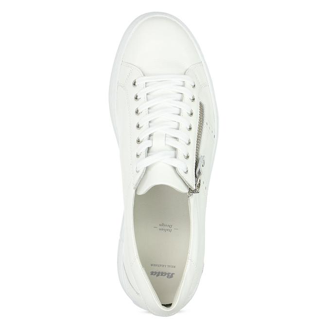 Bílé tenisky na flatformě se zipem bata, bílá, 544-1602 - 17