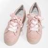 Dámské kožené tenisky s mašlí růžové bata, růžová, 543-5600 - 16