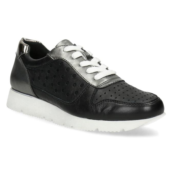 Dámské kožené tenisky černé bata, černá, 544-6600 - 13