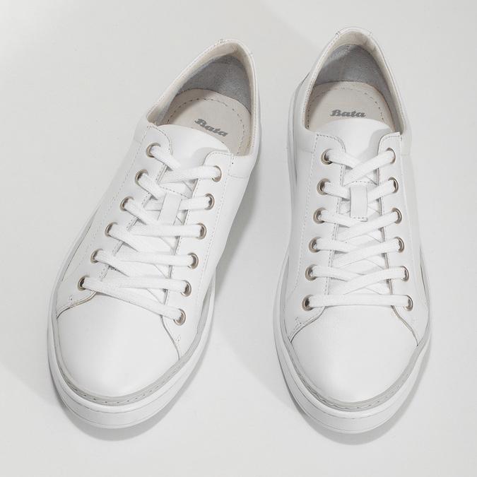 Kožené bílé dámské tenisky bata, bílá, 544-1601 - 16