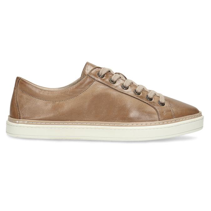 Dámské hnědé kožené tenisky bata, hnědá, 544-3601 - 19