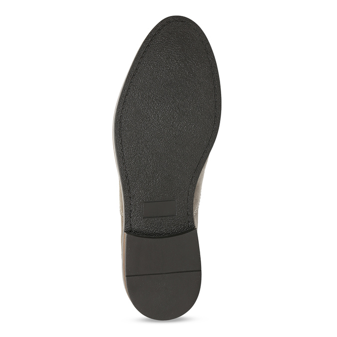 Pánské ležérní polobotky z broušené kůže bata, béžová, 823-2634 - 18