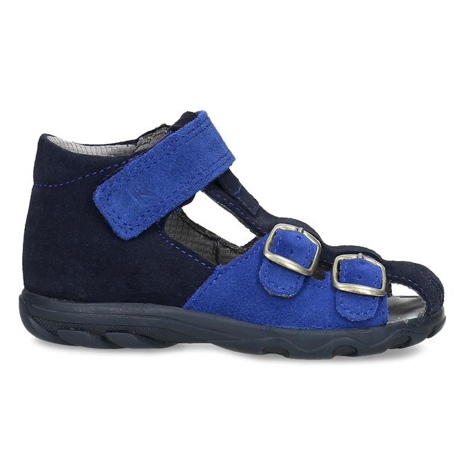 Kožené chlapecké sandály s přezkami richter, modrá, 163-9103 - 19