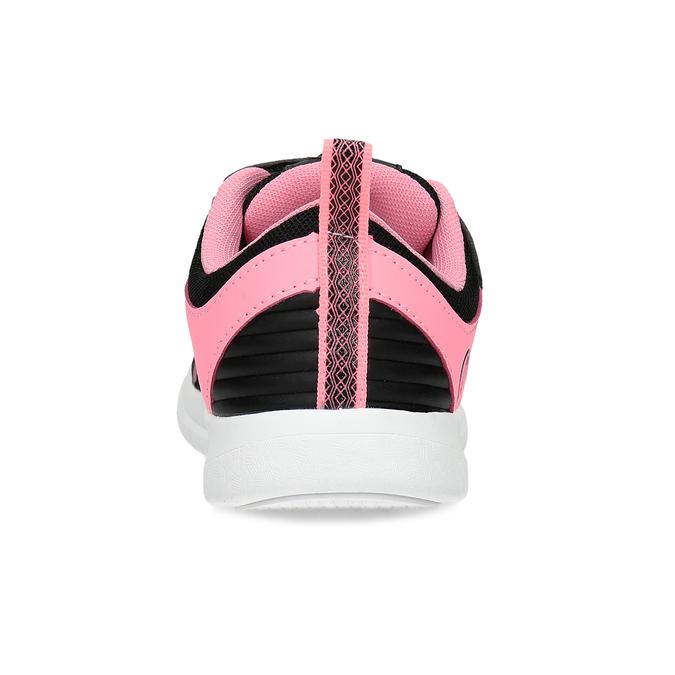 Dívčí černo-růžové tenisky bubble-breathe, černá, 321-6172 - 15