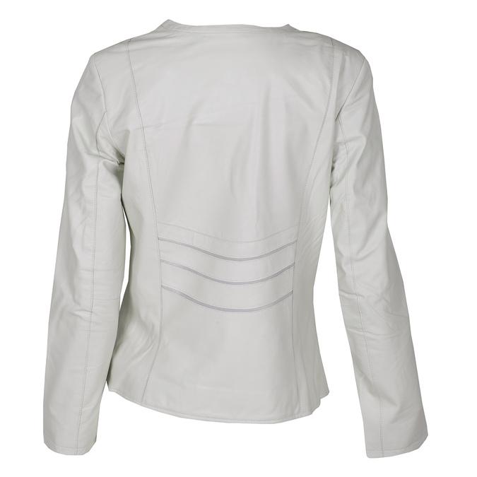 Bílá dámská bunda kožená bata, bílá, 974-1124 - 26
