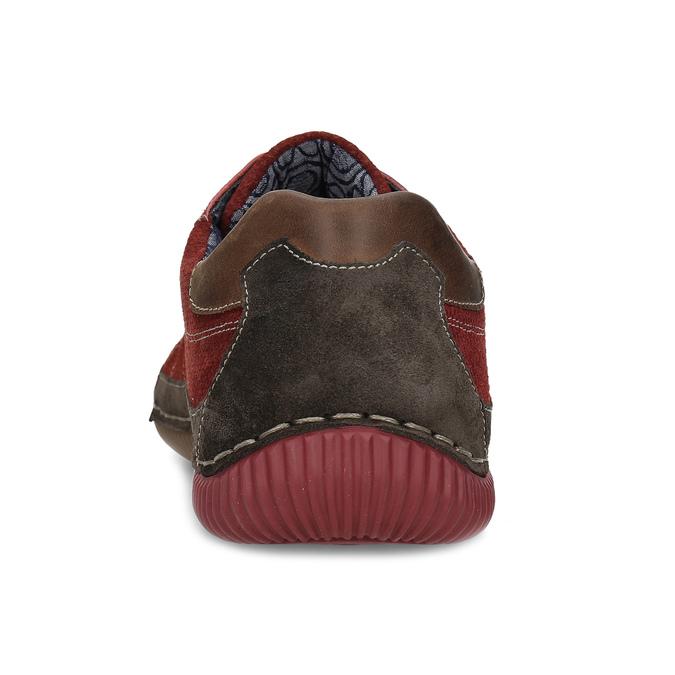 Červené pánské ležérní tenisky s prošíváním bata, červená, 846-0730 - 15