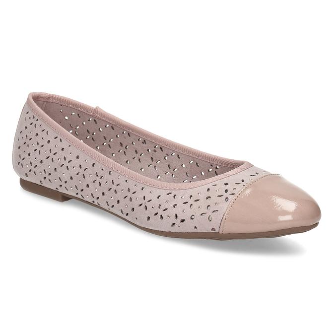 Růžové baleríny s kamínky bata, růžová, 529-8648 - 13