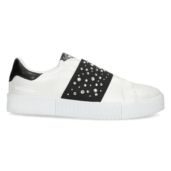 Stříbrné Slip-on tenisky s kamínky north-star, bílá, 531-2600 - 19