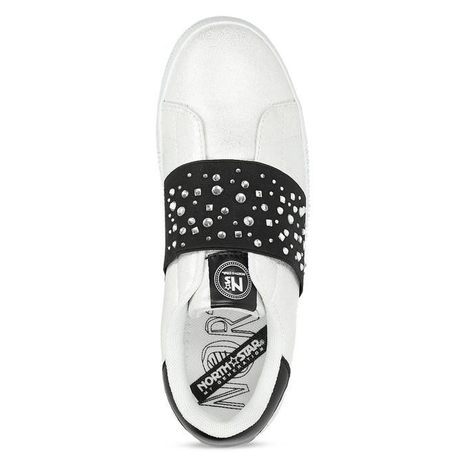 Stříbrné Slip-on tenisky s kamínky north-star, bílá, 531-2600 - 17