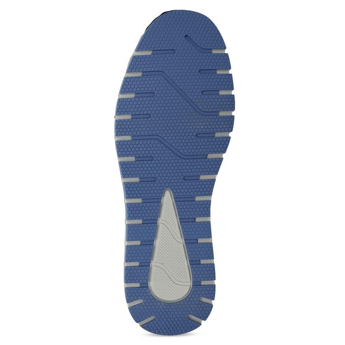 Ležérní pánské tenisky z broušené kůže bata, modrá, 843-9646 - 18