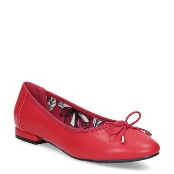 Červené baleríny s mašlí bata, červená, 521-5650 - 13