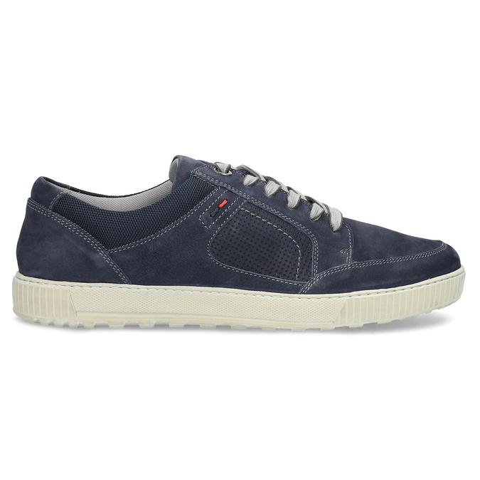 Kožené tmavě modré tenisky bata, modrá, 846-9600 - 19