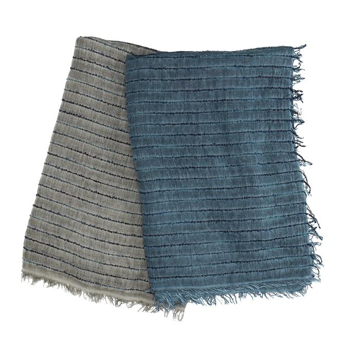 Lehká pánská šála s proužkem bata, vícebarevné, 909-0341 - 13