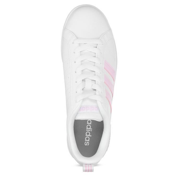Bílé dámské tenisky s růžovými detaily adidas, bílá, 501-1139 - 17