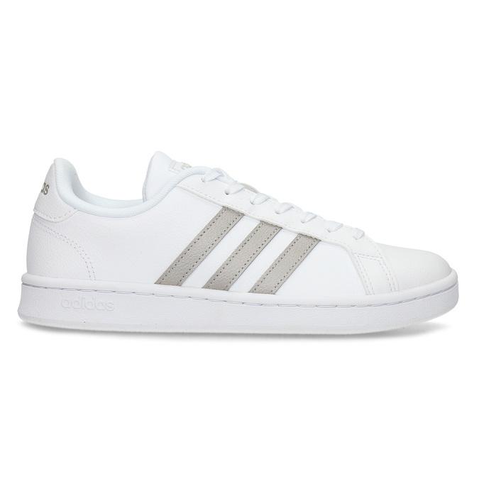 Bílé dámské ležérní tenisky adidas, bílá, 501-1249 - 19