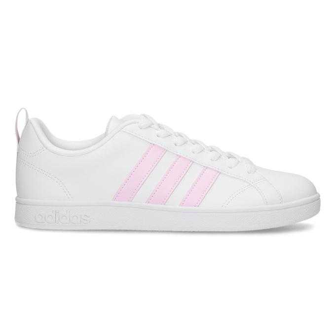 Bílé dámské tenisky s růžovými detaily adidas, bílá, 501-1139 - 19
