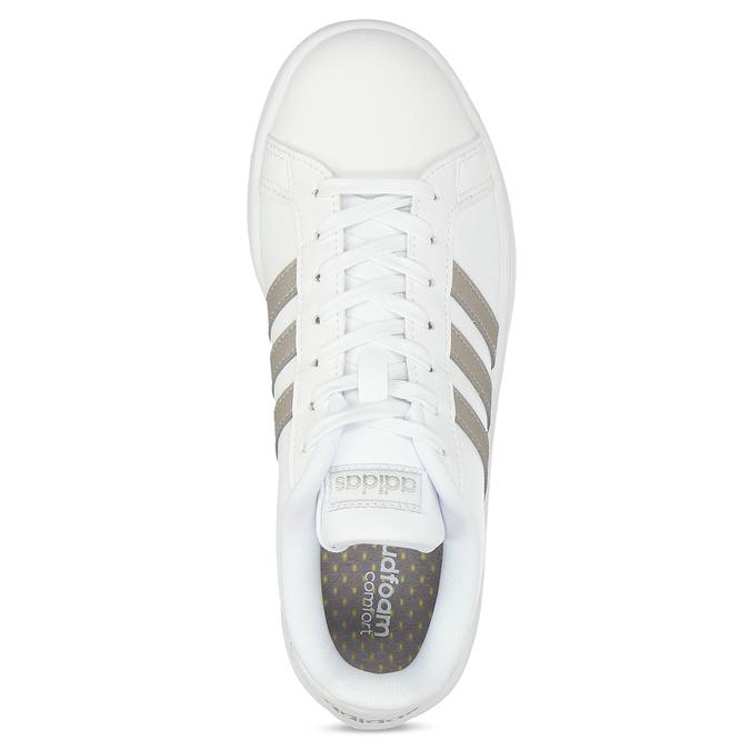 Bílé dámské ležérní tenisky adidas, bílá, 501-1249 - 17