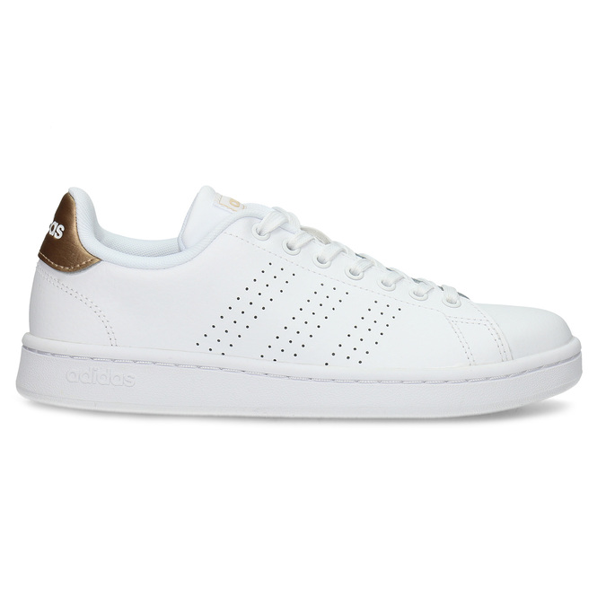 Dámské bílé tenisky s perforací adidas, bílá, 501-1854 - 19