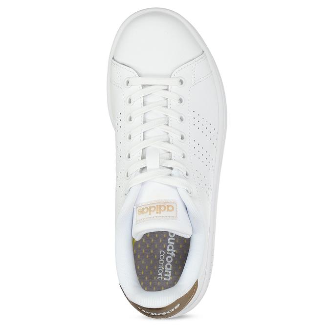 Dámské bílé tenisky s perforací adidas, bílá, 501-1854 - 17