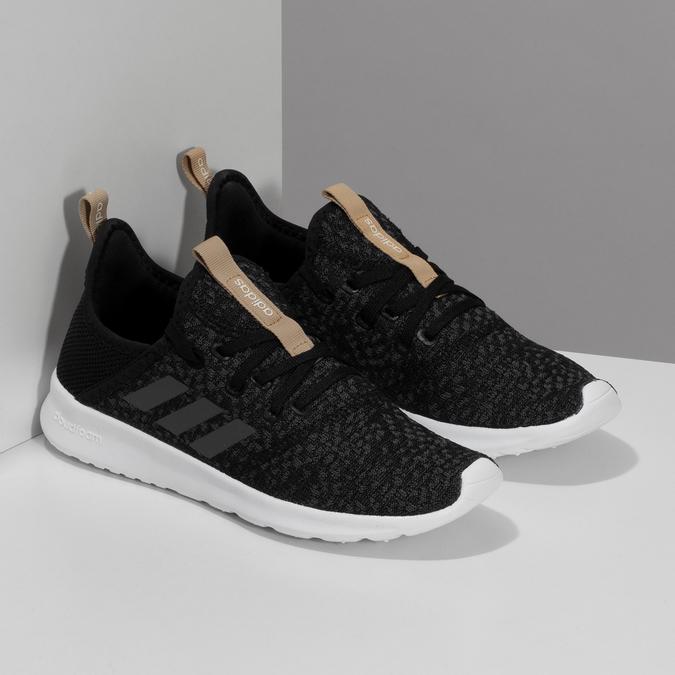 Černé dámské tenisky s hnědým detailem adidas, černá, 509-6469 - 26