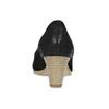 Lodičky z černé broušené kůže bata, černá, 626-6652 - 15