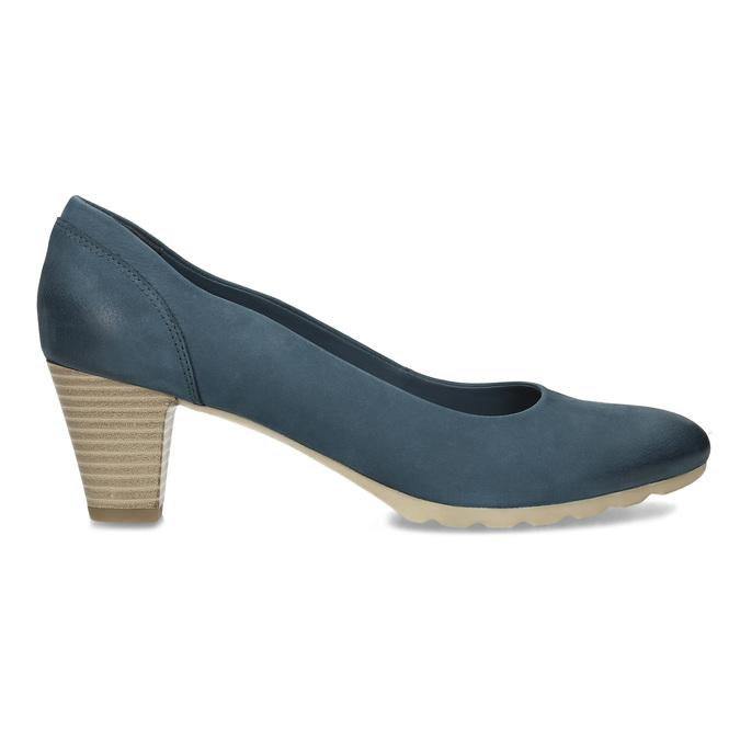 Tmavě modré dámské lodičky bata, modrá, 626-9652 - 19