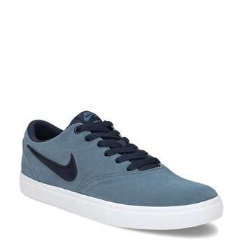 Modré pánské tenisky z broušené kůže nike, modrá, 803-9106 - 13