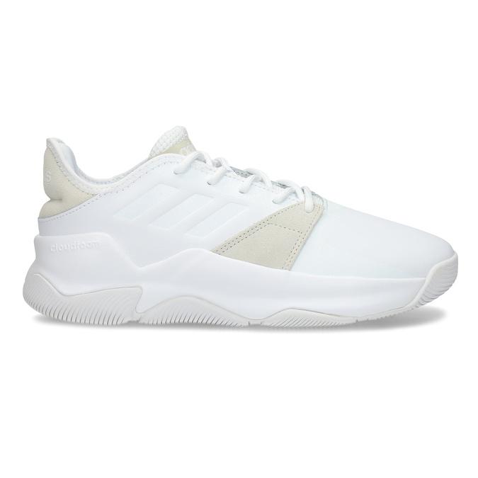 Pánské bílé tenisky s výraznou podešví adidas, bílá, 801-1223 - 19