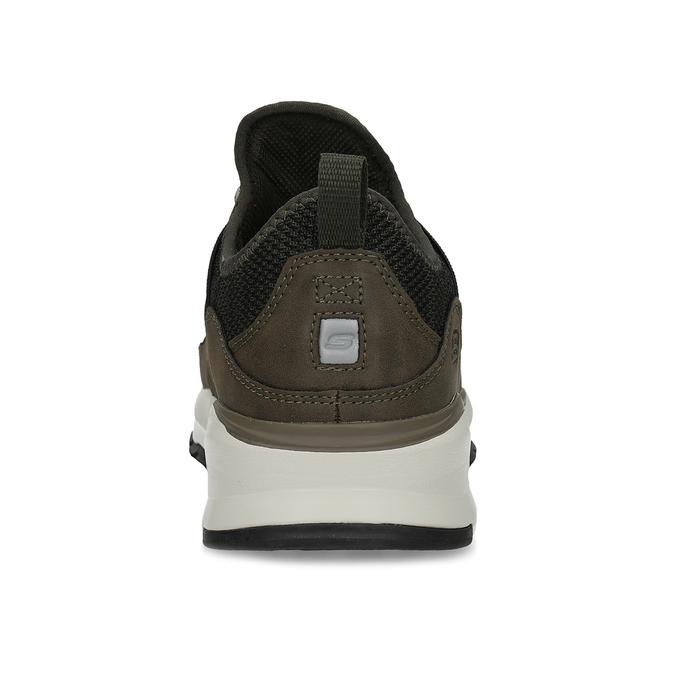 Kotníčkové pánské tenisky s výraznou podešví skechers, khaki, 809-7102 - 15
