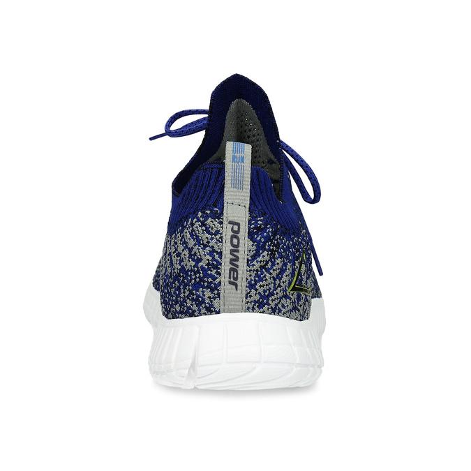 Kotníčkové modré tenisky v pleteném stylu power, modrá, 809-9420 - 15